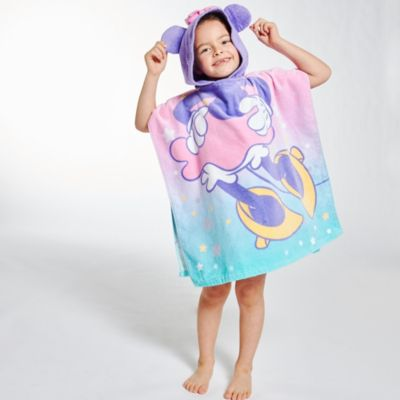 Disney Store Minnie Mouse Mystical Hooded Towel For Kids
