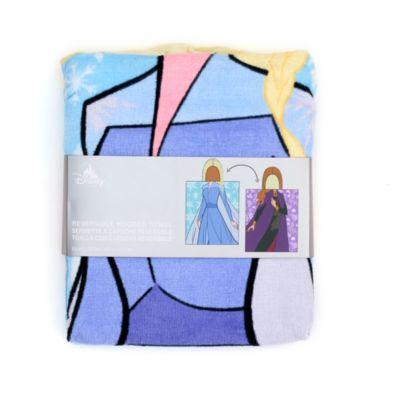 Toalla con capucha reversible infantil Anna y Elsa, Disney Store