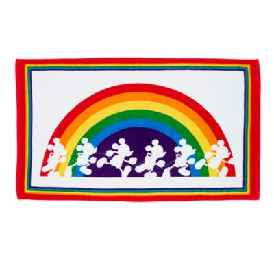 Disney Store Mickey Mouse Rainbow Disney Jumbo Beach Towel