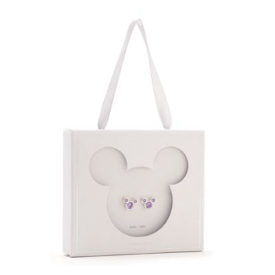 Disney Store Mickey Mouse June Birthstone Stud Earrings