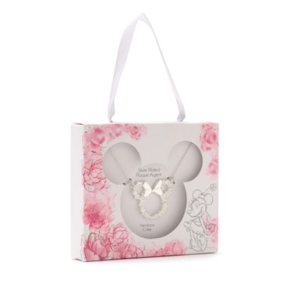 Disney Store Collier Positively Minnie plaqué argent