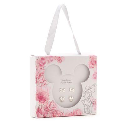 Disney Store Clous d'oreilles plaqués argent, Positively Minnie, lot de 2