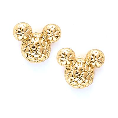 Disney Store Mickey Mouse Positively Minnie Gold-Plated Stud Earrings