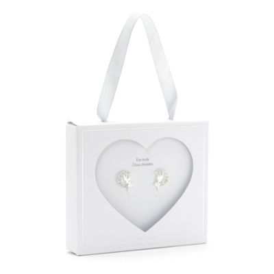 Disney Store Tinker Bell Silver-Plated Stud Earrings