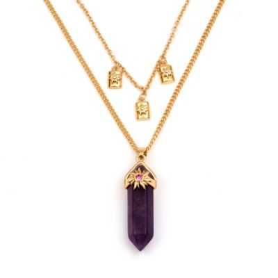 Disney Store Rapunzel Amethyst Necklace For Adults, Tangled