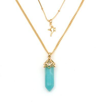 Disney Store - Aladdin - Prinzessin Jasmin - Halskette mit Anhänger aus Amazonit für Erwachsene