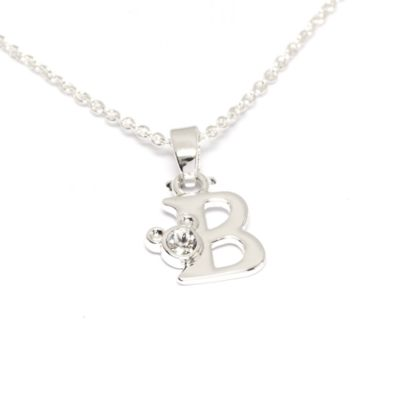 Disney Store Mickey Mouse 'B' Initial Necklace