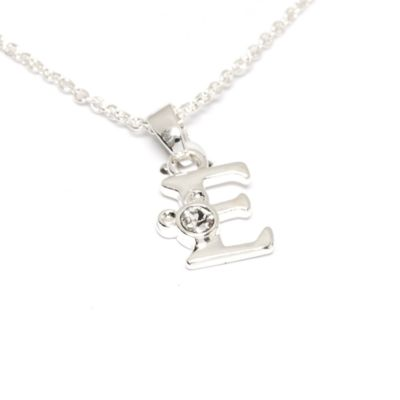 Disney Store Mickey Mouse 'E' Initial Necklace