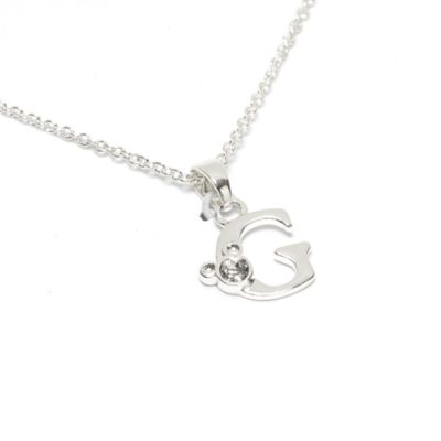 Disney Store Mickey Mouse 'G' Initial Necklace