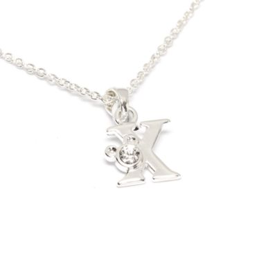 Disney Store Mickey Mouse 'X' Initial Necklace