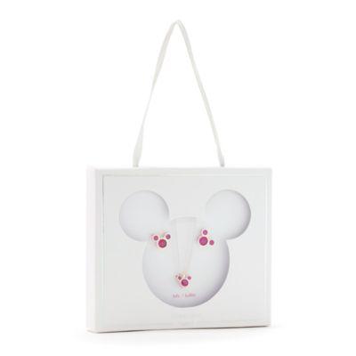 Disney Store Parure collier et clous d'oreilles Mickey, pierre porte-bonheur Juillet