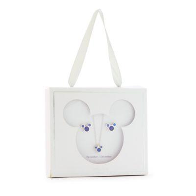Disney Store - Micky Maus - Geburtssteinset mit Halskette und Ohrringen, Dezember