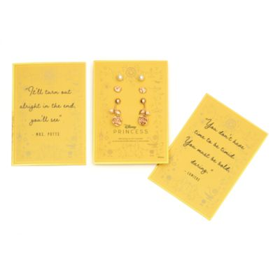 Disney Store Belle Earring Set with Postcards