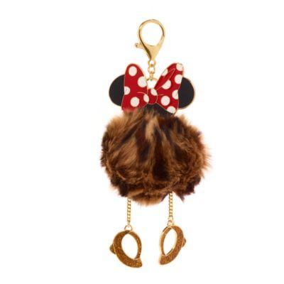 Disney Store Minnie Mouse Pom-Pom Bag Charm