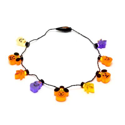 Disney Store Mickey Mouse Pumpkin Light-Up Necklace