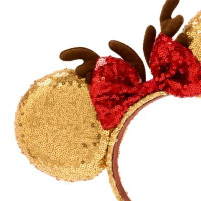 Diadema infantil navideña con orejas Minnie Mouse, Disney Store