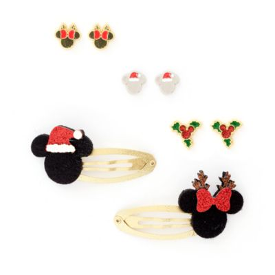 Disney Store Mickey and Minnie Stud Earrings and Hair Clips