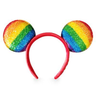 Disney Store Mickey Mouse Rainbow Disney Ears Headband For Adults
