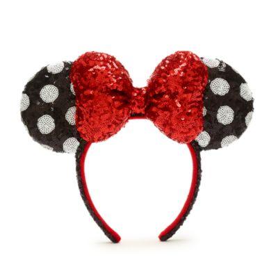 Walt Disney World - Minnie Maus - Rot-Schwarz-Weiß-Haarreif mit Ohren für Erwachsene
