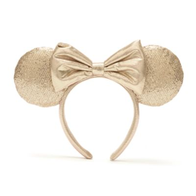 Walt Disney World diadema con orejas color champán Minnie Mouse para adultos