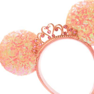 Walt Disney World diadema con orejas Minnie Mouse para adultos, princesas Disney