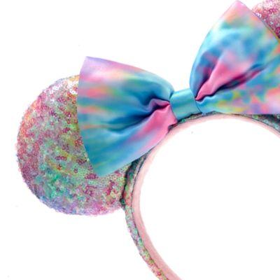Walt Disney World - Minnie Maus - Haarreif mit pastellfarbenen Pailletten und Ohren für Erwachsene