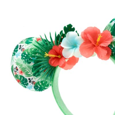 Walt Disney World Minnie Mouse Tropical Hideaway Ears Headband For Adults