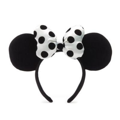 Walt Disney World - Minnie Maus - Haarreif mit Ohren in Schwarz-Weiß für Erwachsene