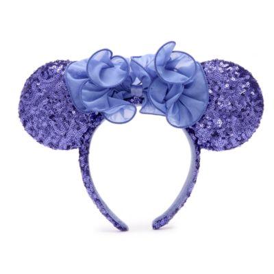 Disney Parks Minnie Mouse Hydrangea Ears Headband For Adults