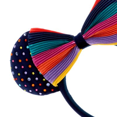 Walt Disney World - Minnie Maus - Haarreif mit Ohren in Regenbogenfarben für Erwachsene