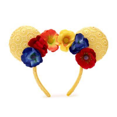 Walt Disney World - Minnie Maus - Haarreif mit Ohren und Mohnblumen für Erwachsene