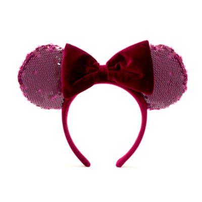 Walt Disney World Minnie Mouse Bordeaux Ears Headband For Adults