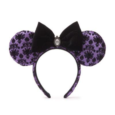 Walt Disney World diadema con orejas Minnie Mouse para adultos, The Haunted Mansion