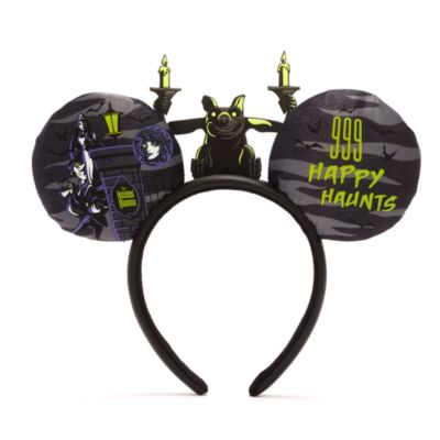 Disney Parks The Haunted Mansion Mickey Mouse Ears Headband For Adults