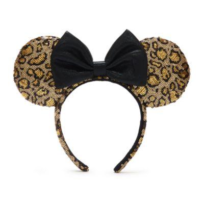 Disneyland Serre-tête à oreilles de Minnie Léopard avec sequins pour adultes