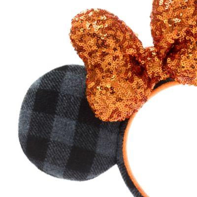 Disneyland Serre-tête à oreilles de Minnie Halloween avec motif tartan pour adultes