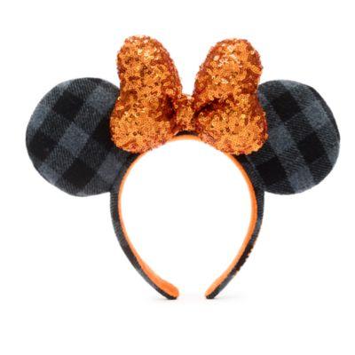 Cerchietto adulti orecchie Minni Halloween Plaid Parchi Disney