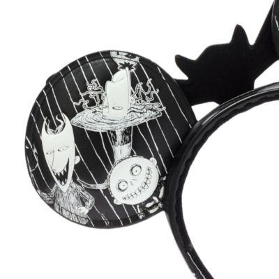 Disney Parks Jack Skellington Minnie Mouse Ears Headband For Adults