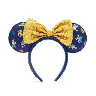 Loungefly - Walt Disney World - 50th Anniversary - Minnie Maus - Haarreif mit Ohren für Erwachsene