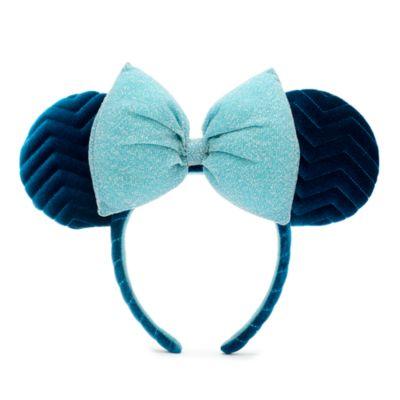 Disney Parks Minnie Mouse Azul Ears Headband For Adults