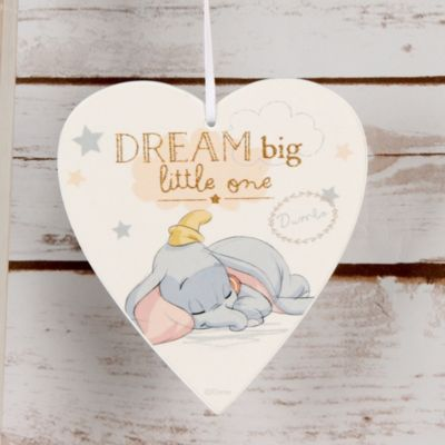 Targhetta di legno baby Dumbo