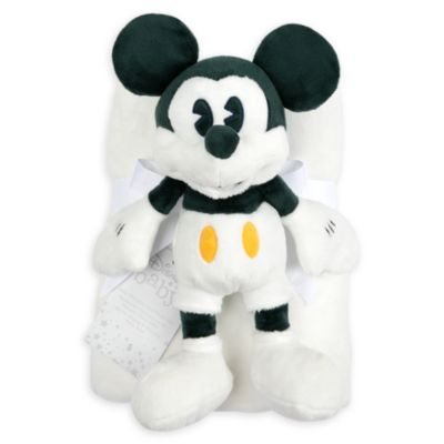 Disney Store Mickey Mouse Baby Blanket and Soft Toy Set