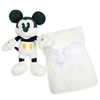 Disney Store Ensemble peluche et couverture Mickey pour bébés