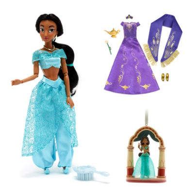 Disney Store Ensemble Poupée et décoration Jasmine, Aladdin
