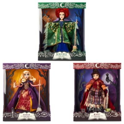 Disney Store Sarah. Mary and Winifred Limited Edition Doll Bundle, Hocus Pocus