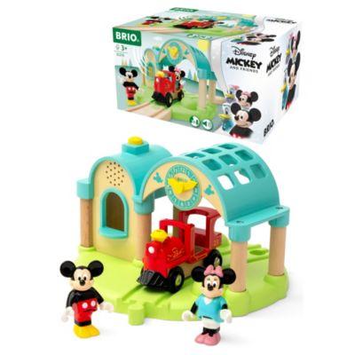 Set estación tren juguete graba y reproduce Mickey y Minnie, Brio