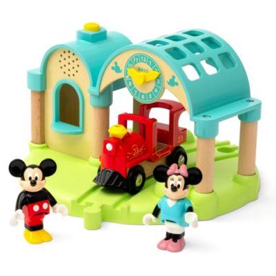Brio - Micky und Minnie - Spielzeugbahnhofset mit Aufnahme- & Abspielfunktion