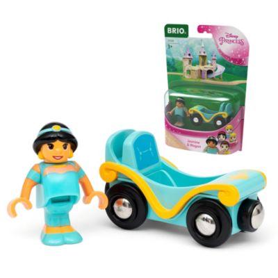 Set di personaggi Jasmine e carrozza ferroviaria Aladdin Brio