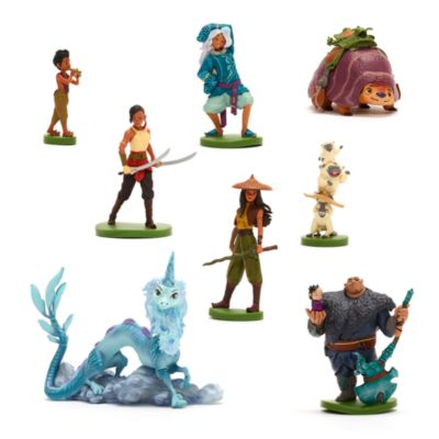 Set juego exclusivo figuritas Raya y el último dragón, Disney Store