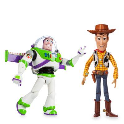 Promoción bundle figuras acción parlantes Woody y Buzz Lighyear, Disney Store